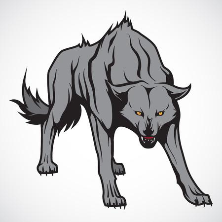 loup garou: L'image de vecteur de vecteur d'image du loup mal.