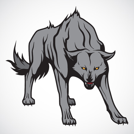 The vector image Vector image of the evil wolf.