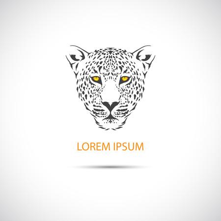 chita: La imagen del vector de la cabeza del leopardo de la etiqueta. Vector.