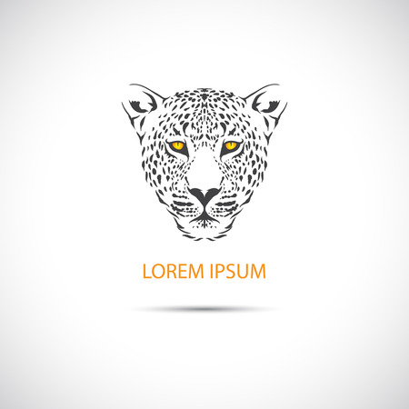 The Vector image of The head of the leopard for the label. Vector.