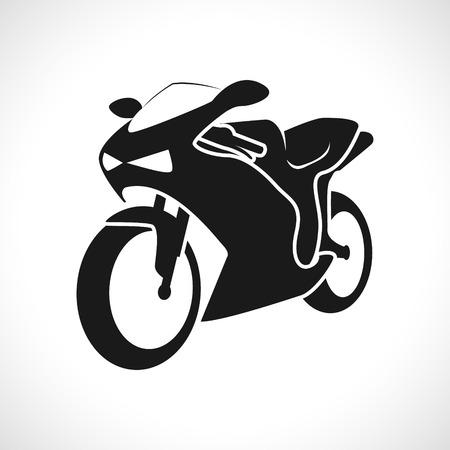 silueta ciclista: La imagen del vector del icono de las carreras de motos.