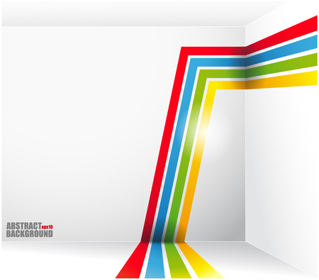 The Vector image of Abstract background with bright strips and a place under the text. vector