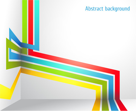 striped band: The Vector image of Abstract background with bright strips and a place under the text. vector