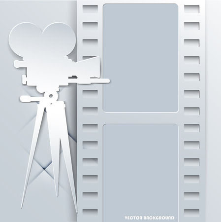 The Vector image of Abstract cinema background, vector illustration Illusztráció