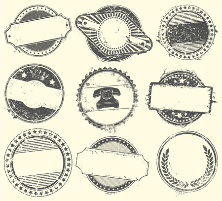 quality seal: The Vector image of Abstract set of vector stamps with an empty place for the text