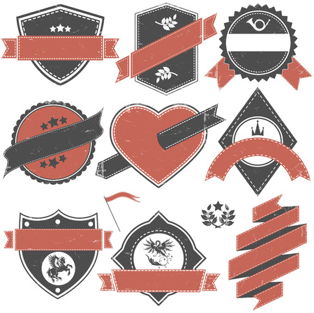 old stamp: The Vector image of Abstract set of vector stamps with an empty place for the text