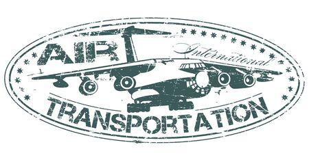 plan éloigné: L'image vectorielle de tampon de transport aérien