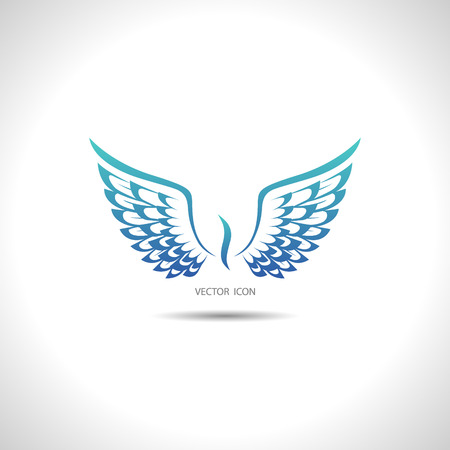 De vector afbeelding van pictogram met vleugels.