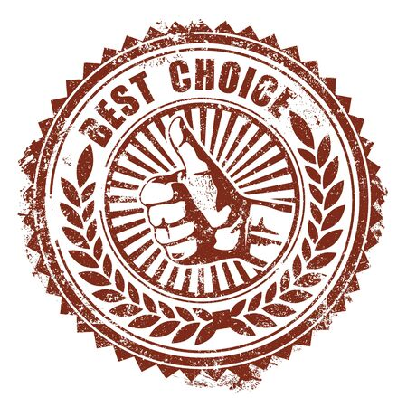 The Vector image of Best Choice Stamp Illustration