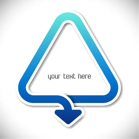 blue arrow: The Vector image of blue arrow in a triangle
