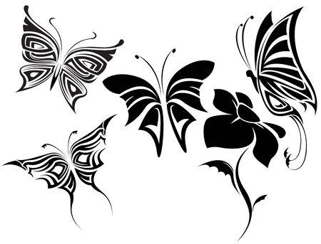 vectorial: The vector image of Butterflies tribal