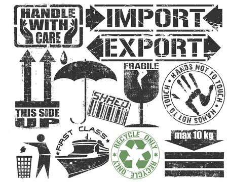 export import: The vector image of Cargo Stamp