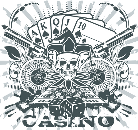 joker playing card: The vector image Casino emblem
