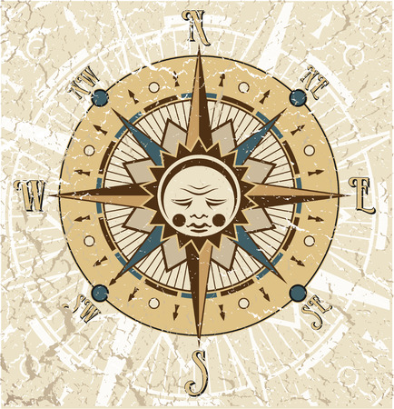north: The vector image of Compass Rose Illustration Illustration