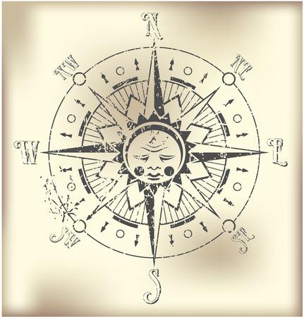 rosa dei venti: Il vettore di immagine Compass Rose illustrazione Vettoriali