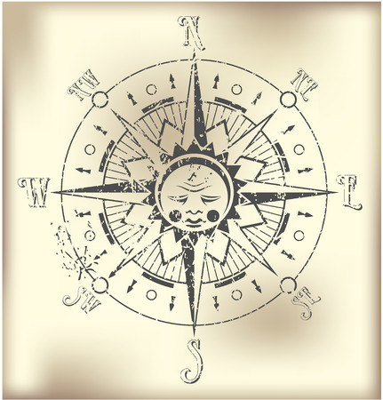 old compass: The vector image of Compass Rose Illustration Illustration
