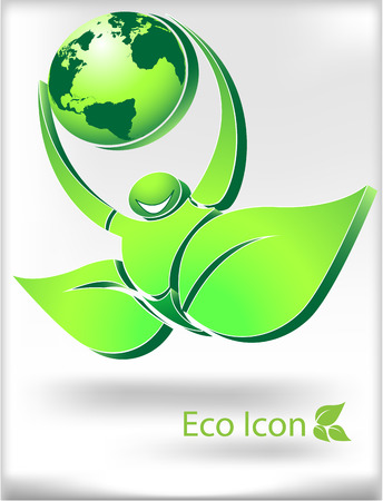 internationally: The vector image of ECO ICON