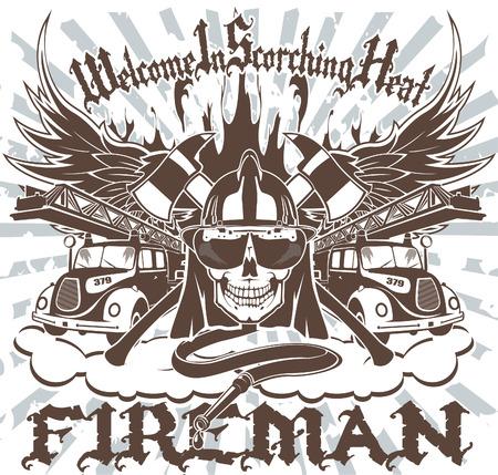 De vector afbeelding van Symbool van de Brandweerman Stock Illustratie