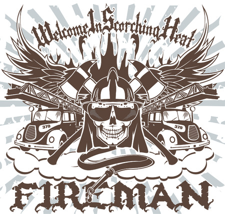 The vector image of Fireman Symbol