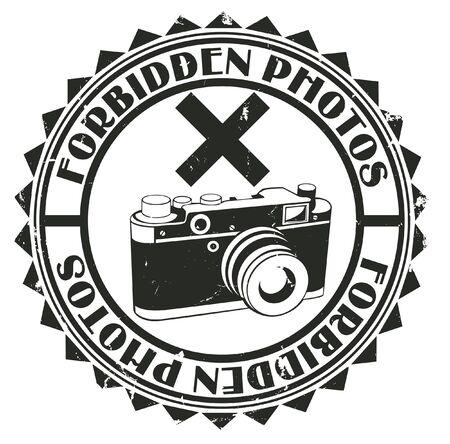 infringement: The vector image of Forbidden photos stamp
