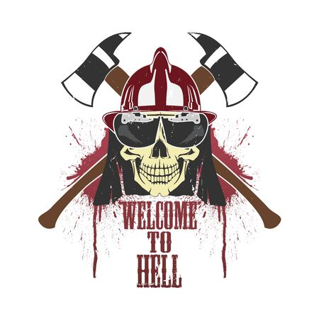 The vector image of  Creative picture of a skull