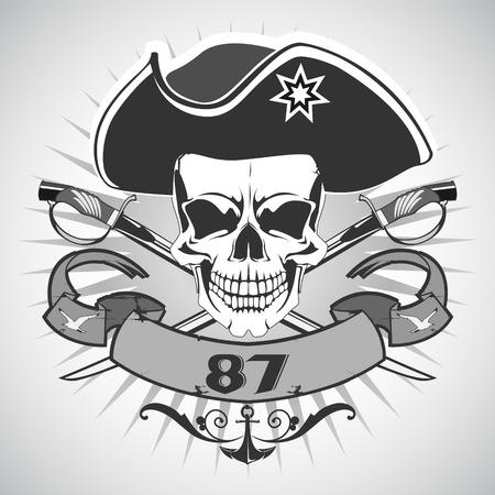 pirata: El vector de imagen de cr�neo pirata. Vector. Vectores