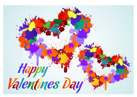 gunpowder: The vector image of happy valentines day Illustration