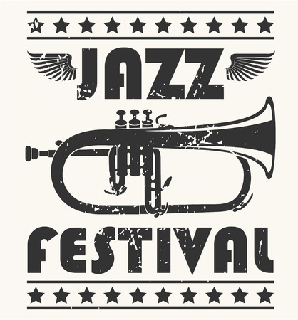 jazz: The vector image of  Jazz Festival Stamp