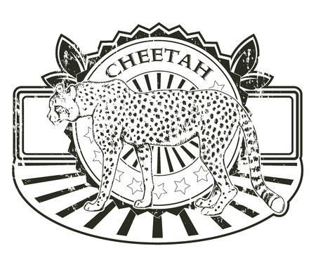 stopper: The vector image of Label with a cheetah