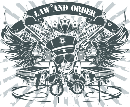 patrolman: The vector image of Law and Order Emblem