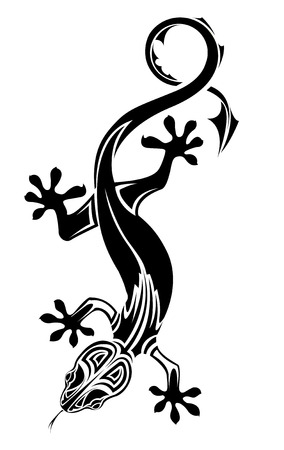 monster tattoo: The vector image of LIZARD