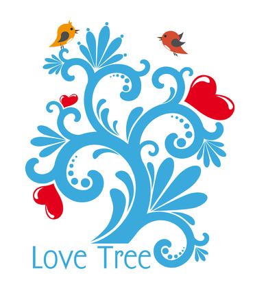 love image: The vector image  of Love Tree Illustration