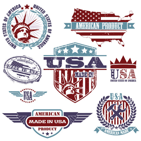 made in usa: The vector image of Made In Usa Collection