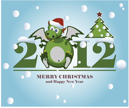 dragon year: The vector image of New Year
