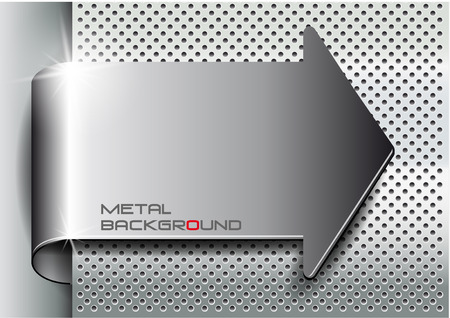 The vector image of Metal background arrow.Vector illustration 일러스트