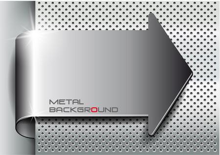cromo: El vector de imagen Fondo del metal arrow.Vector ilustración Vectores