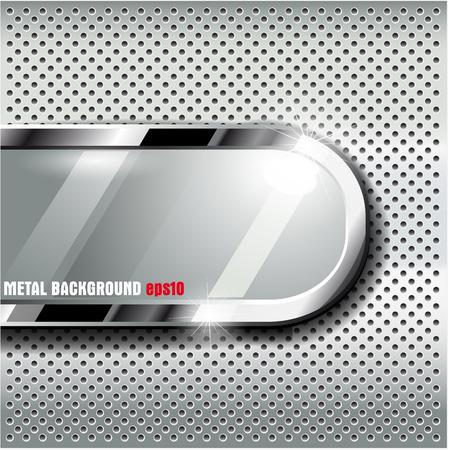 De vector afbeelding van Metal achtergrond.Vectorillustratie