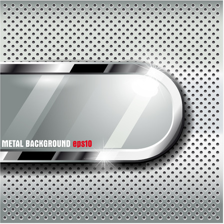 malla metalica: La imagen del vector de metal background.Vector ilustración