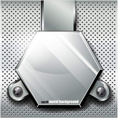 diamond plate: The vector image of  Metal background.Vector illustration