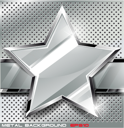 silver metal: The vector image of  Metal background.Vector illustration