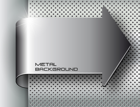 The vector image of  Metal background.Vector illustration Vector