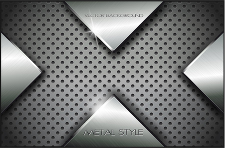 steel grille: The vector image of  Metal background.Vector illustration