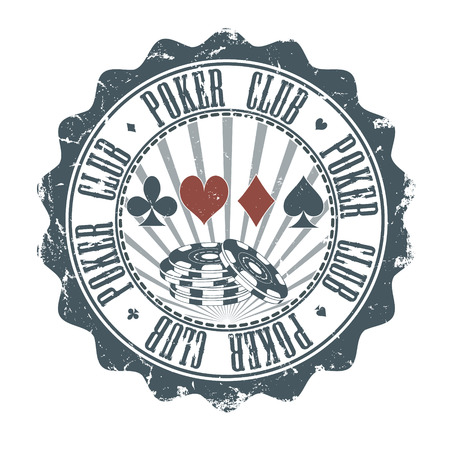 royal house: The vector image of  Poker Club stamp. Vector illustration Illustration
