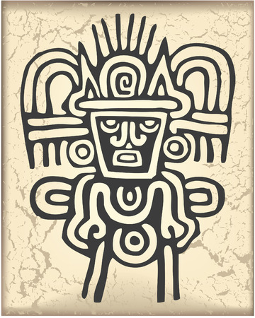codex: The vector image of Ornament in style of the Maya
