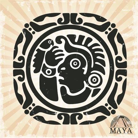 マヤのスタイルで飾りのベクトル画像  イラスト・ベクター素材