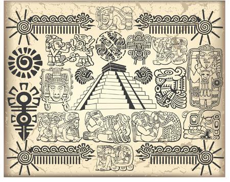 De vector afbeelding van Maya set