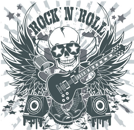 The vector image of Rock n roll symbol