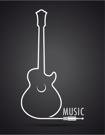 electric guitar: The vector image of Background with guitar. Vector.