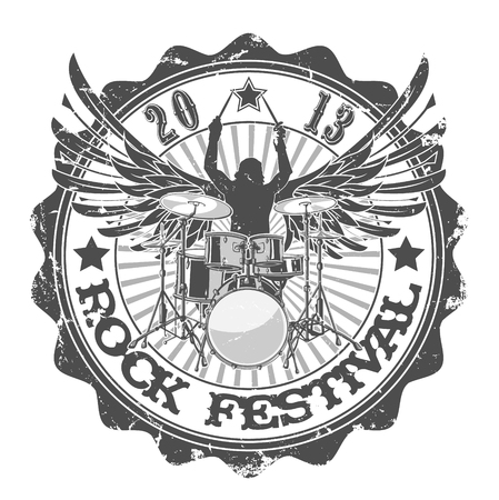 The vector image of Stamp rock festival. Vector illustration.