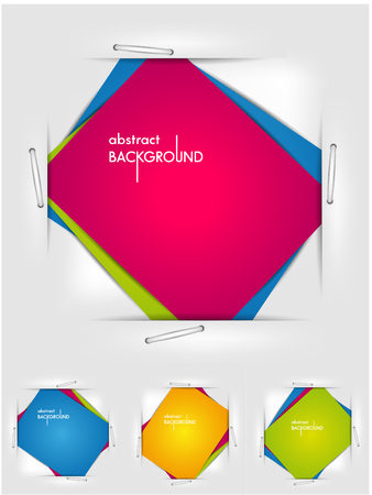 The vector image of  set abstract backgrounds